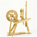 A beautiful example of a typical old fashioned spinning wheel.  Made In Poland.