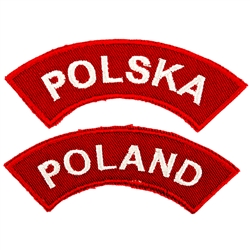 Embroidered sew on shoulder patch - Select either Poland or Polska (the Polish version of Poland)