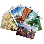 Set of 8 full color glossy Easter cards, religious.  Text varies on each card.