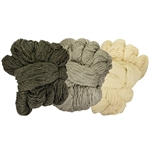 Pure natural wool from the mountain sheep in the Podhale region of southern Poland near Zakopane. Available in 3 shades.