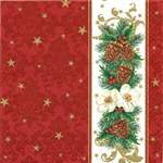 "Polish Folk Art Luncheon Napkins (package of 20) - ""Classic Pines"".  Three ply napkins with water based paints used in the printing process."
