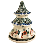 Collectors of Polish stoneware from Poland's premier company, Ceramika Artystyczna, will enjoy this unique item. Each of the stars on the tree is cut out to allow heat out.  Artist initialed.