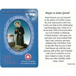 Healing Saint Gerard is the Patron of those with Fertility Issues. This unique prayer card contains a third class relics on the front with the prayer on the back. The piece of cloth has been touched to his relics.