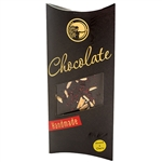 Deluxe handmade dark chocolate bar with cherries and almonds. 60% cocoa minimum.