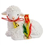 The Easter table is not complete without the Easter lamb. Ours are made of plaster and nicely detailed. Below is an explanation of this Polish custom.