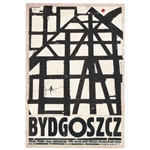 "Bydgoszcz, Polish Promotion Poster designed by artist Ryszard Kaja. It has now been turned into a post card size 4.75"" x 6.75"" - 12cm x 17cm."