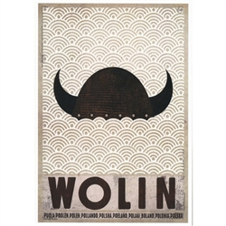"Wolin, Polish Promotion Poster designed by artist Ryszard Kaja. It has now been turned into a post card size 4.75"" x 6.75"" - 12cm x 17cm."
