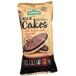 Super delicious rice cake covered on one side with rich dark chocolate (59%). 6 cakes to a package.