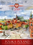 This beautiful large format spiral bound wall calendar features the works of Polish artist Katarzyna Tomala. 15 scenes from around the county in watercolours.