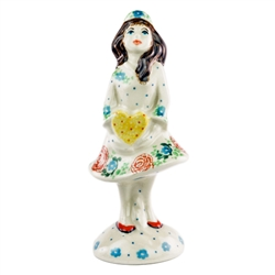 Collectors of Polish stoneware from Poland's premier company, Ceramika Artystyczna, will enjoy this unique figurine. Artist initialed