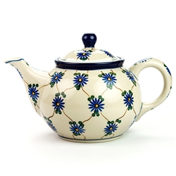 Beautiful teapot with a 30oz./3.8 cups capacity . Artist Initialed.