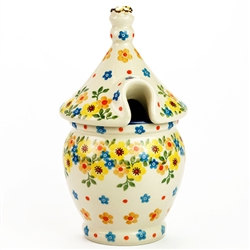 Polish Pottery Stoneware Honey Pot