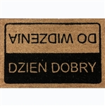 This mat has you coming and going in Polish.  Hello and goodby! Resis