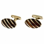 Mosaic Amber Cuff Links