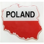 Map Of Poland On A Raised Dye Cut Pliable Sticker