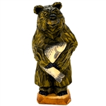 Beautiful hand carved Polish bear with his just caught tasty meal!!
