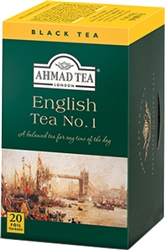 Ahmad English Tea No. 1 20 foil tea bags