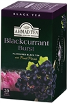 Ahmad Blackcurrant Black Tea 20 foil tea bags