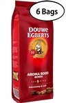 6 Packs Douwe Egberts Aroma Rood Whole Beans Coffee 17.6oz/500g Each