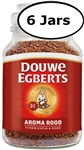 6 Jars Douwe Egberts Aroma Rood Instant Coffee 7oz/200g Each