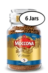 6 Jars Douwe Egberts Moccona Classic Decaf Instant Coffee 3.5oz/100g Each