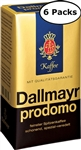 6 Packs Dallmayr Prodomo Ground Coffee 17.6oz/500g