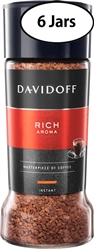 6 Jars  Davidoff Cafe Rich Aroma Instant Coffee 3.5oz/100g Each