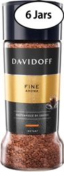 6 Jars Davidoff Cafe Fine Aroma Instant Coffee 3.5oz/100g Each