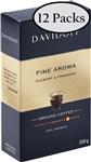 12 Packs Davidoff Cafe Fine Aroma Ground Coffee 8.8oz/250g Each