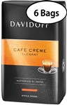 6 Bags Davidoff Cafe Creme Whole Beans Coffee 17.6oz/500g Each