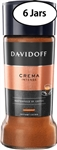 6 Jars Davidoff Crema Intense Instant Coffee 3.5oz/100g Each