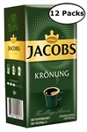 12 Packs Jacobs Kronung Ground Coffee 8.8oz/250g Each
