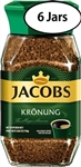 6 Jars Jacobs Kronung Instant Coffee 3.5oz/100g Each
