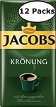 12 Packs Jacobs Kronung Ground Coffee 17.6oz/500g Each