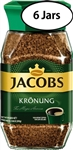 6 Jars Jacobs Kronung Instant Coffee  7oz/200g Each