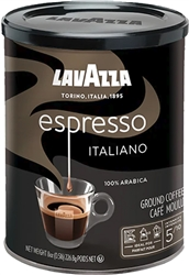 Lavazza Caffe Espresso Ground Coffee in Can 8oz/227g