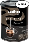 6 Cans Lavazza Caffe Espresso Ground Coffee 8oz/227g Each