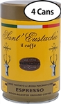 4 Cans of Sant Eustachio Espresso Grind Coffee 8.8oz/250g Each