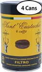 4 Packs of Sant Eustachio Filtro Grind Coffee in can 8.8oz/250g Each