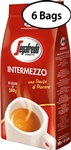 6 Packs Segafredo Intermezzo Whole Beans Coffee 17.6oz/500g Each
