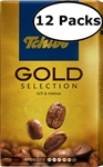 12 Packs Tchibo Gold Selection Ground Coffee 8.8oz/250g Each