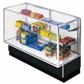 Metal Framed Full Vision Glass Front Display Case