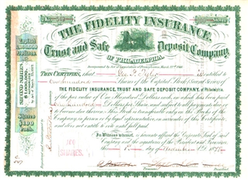 The Fidelity Insurance, Trust, and Safe Deposit Co.