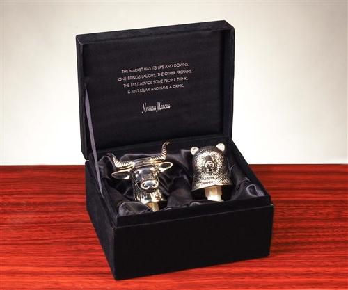Neiman Marcus Silver Bull Amp Bear Wine Stoppers