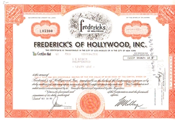 Fredrick's of Hollywood, Inc. Stock Certificate