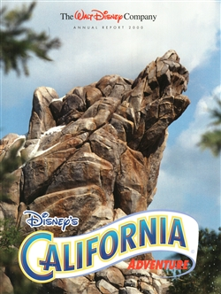 2000 Walt Disney Company Annual Report – California Adventure Cover
