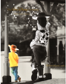 2006 Walt Disney Company Annual Report – Where Dreams Come True Cover