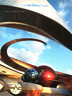 2002 Walt Disney Company Annual Report – Mission Space Epcot Cover