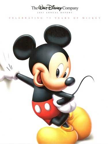 2003 Walt Disney Company Annual Report 75 Years Mickey