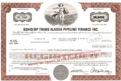 SOHIO/BP Trans Alaska Pipeline Finance Inc. Stock Certificate